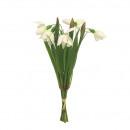 wholesale Artificial Flowers: Bunch of snowdrops, 5 flowers, L26cm, ...